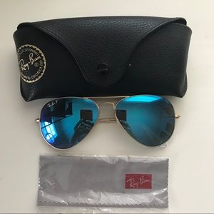 Ray Ban Blue Mirrored Aviator